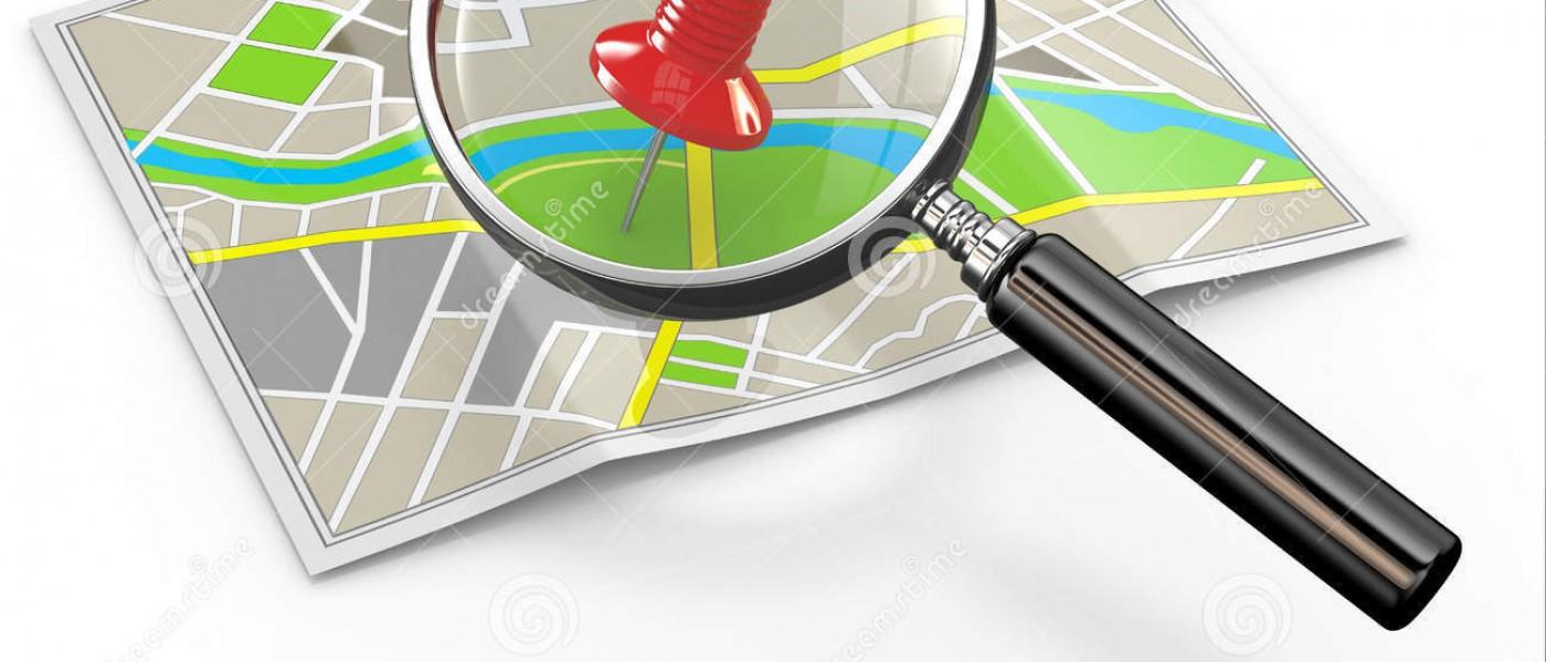 Ubicación Del Hallazgo Lupa Y Chincheta En Mapa 284719871